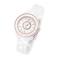 fashion women's ceramic watches sapphire mirror Clockface inlaid rhinestones