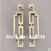 1 pair 96mm Zinc Alloy Kitchen Bronze Cabinet Drawer Pulls Knob Handle High Fashion Kids Desk Furniture Handles Knobs