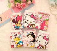 Wholesale Retail 6pcs/lot Cartoon print Cotton Underwear Boxer briefs Children's girls fashion panties Kids Baby free shipping
