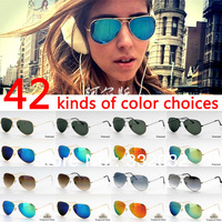 Polarized Glasses 2014 Hotest sunglasses men Vacation women Gradual change glasses Tempered Glass eyewear  42 colors