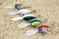 5pcs/lot 113mm 19.2g  crank bait floating hard plastic fishing lure with 4# VMC hooks