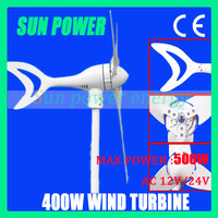 Free shipping  Max power 500w small wind turbine generator AC12V/AC24V with CE certification ,high quality 2 years warranty