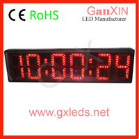 GS6D-8R 8 inch 6 digit semi-outdoor led race clock