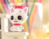 100% Ture Capacity So Cute Cartoon Cat USB Flash Memory 4GB 8GB 16GB 32GB 64GB Free Shipping