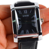 Fashion Retro Roman Digital Square Quartz Men Wrist Watch Male Boy  #L05204