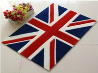CR-14 Fashion Design UK Flag area rug 50x75cm The Union Jack  Kitchen Bathroom rug door floor mat New Style Carpet Freeshipping