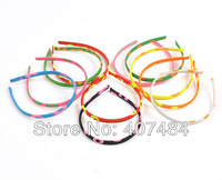 2013 Boutique  wholesale  free shipping polka dot ribbon headband satin headbands 10 mm plastic headbands,50pieces/lot
