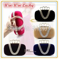 Hot Style 2014 New Women's Handbag. U-shaped Diamond Ring Velvet Hard Case Clutch Golden Chain Shoulder Messenger Bag Multicolor