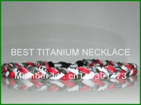 650pcs 3 ropes triple titanium baseball sports necklace