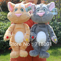 Freeshipping,4PCS Another 5% OFF,50cm,Plush Talking Toy Cat ,Plush Animal,Repeat Any Language,In 10 Seconds,1PC
