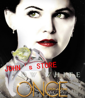 Freeshipping wholesale 20pc a lot Snow White's Ring prop replica Apple Green Zircon ring from Once Upon a Time HR8802