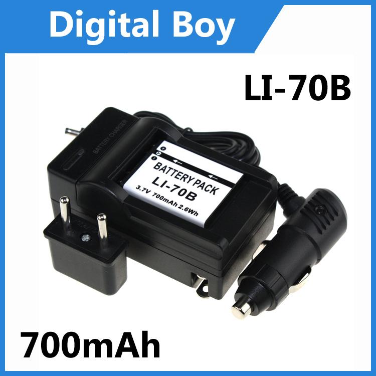 LI-70B LI70B LI 70B Battery+Charger+Car charger+Plug adapter for Olympus VG-145 VG-110 VG-120 FE-4040 5040 X-9403(China (Mainland))