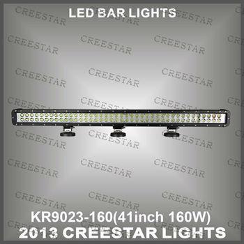 """160W 41"""" CREE CHIP LEDLIGHT BAR  LED WORK LIGHT BAR SPOT BEAM FOR SUV ATV TRUCK 10-30V 9600 Lumen KR9023-160"""