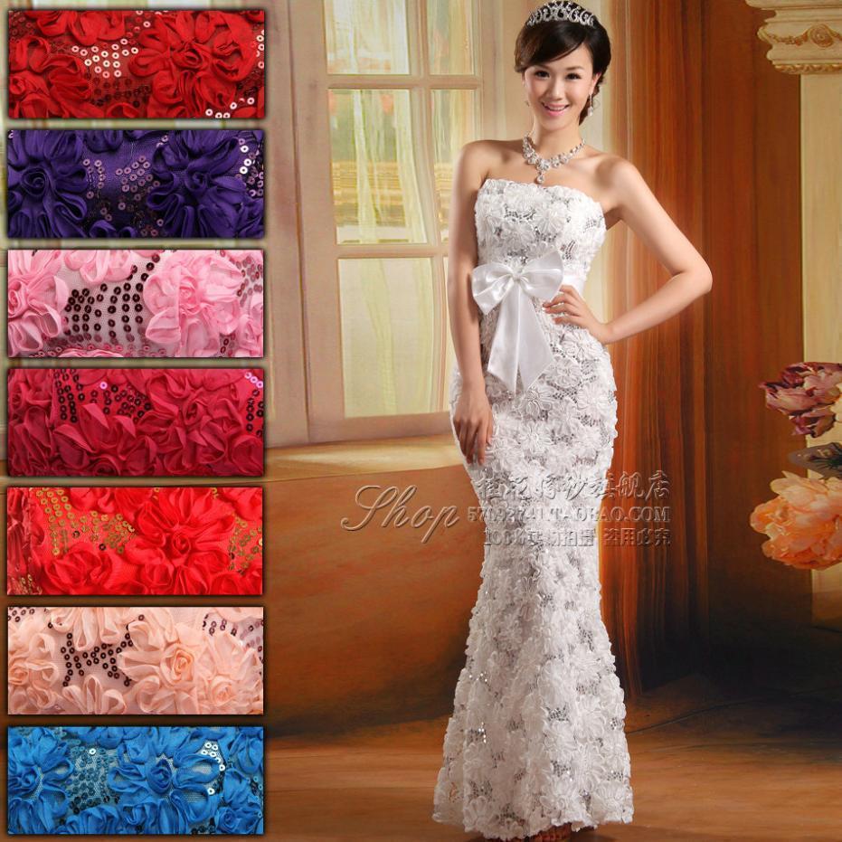 Plus size long XXXXL evening dress 2015 new arrival lace flower long zipper design fish tail party dresses(China (Mainland))