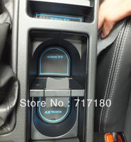 2009-2013 Subaru XV door gate slot pad non-slit pad mat  tank gasket cup mat/pad auto accessories 14pcs white red blue color