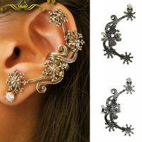 Hot Wholesale Fashion European Style Vintage Earrings Leaf Ear Cuff  SE278
