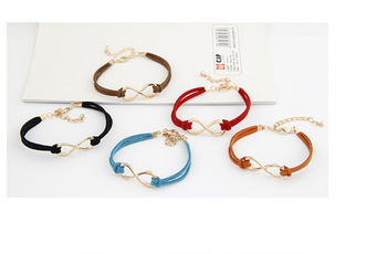 Min. order $9 (mix order) Accessories mix match skin chain 8 suede leather cord bracelet SL077