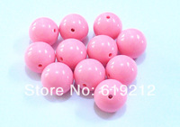 20MM 100pcs/lot  Pink Acrylic Beads,Acrylic Chunky Gumball Beads For Necklace Making Free Shipment