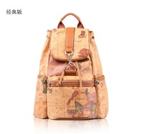 Designer Map Backpacks Handbag for Both Women and Men Travelling Bags Free Shipping 157