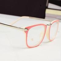 Fashion black glasses frame woMen myopia eyeglasses frame Women black eyes box small box plain glass spectacles