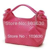 Hot ! 2014 new summer woven fashion single shoulder bag PU handbag women bags wholesale free shipping