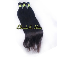 Human Hair Weave Straight Brazilian Virgin Black Mixed 3pcs/lot Queen Hair Extension10''-34''