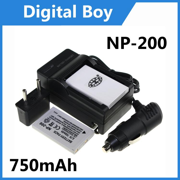 2Pcs NP-200 NP200 NP 200 Battery + Charger + Car Charger + Plug Adapter For Konica Minolta DiMAGE X Xg Xi Xt X20 X21 ZtBiz(China (Mainland))