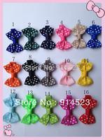 100pcs/lot 2 inches,16colors,hair clip,grossgrain ribbon,gift hair bows