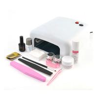 Pro Nail Art Kit Full Set Led Soak Off Uv Gel Polish Manicure File Topcoat Cleanser 36W Curing Lamp Kit Set