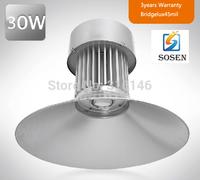 30w LED High Bay Light LED Plaza Light LED High bay lighting Industrial light 2800lm IP65 bridgelux DHL Free shipping