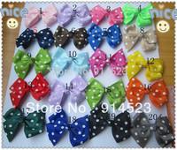 100pcs/lot 20 colors,flower hair accessories,Grosgrain ribbon bows ,kids accessories,