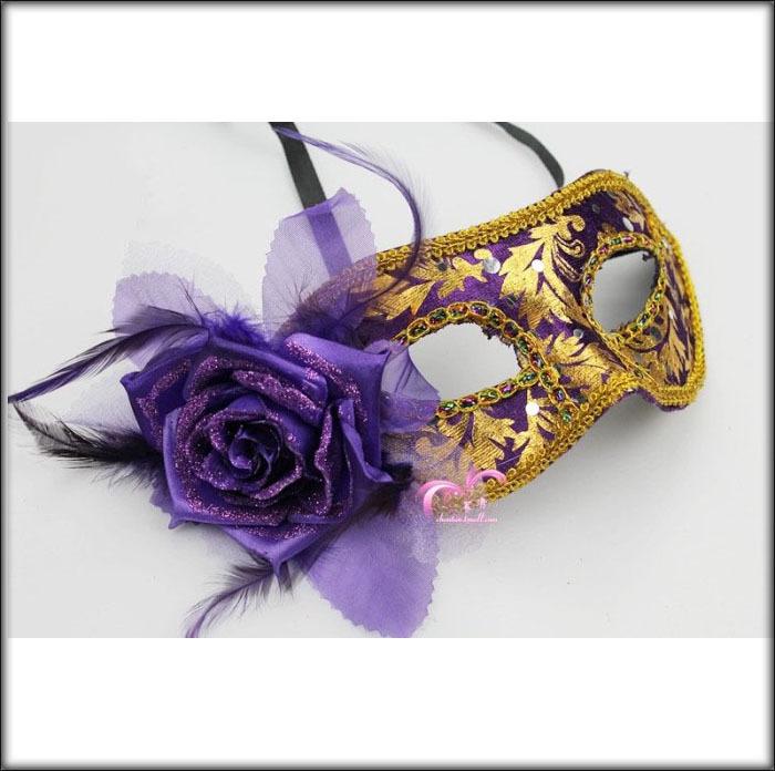 Eye Mask With Feathers Feather Plastic Eye Mask