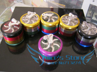 Free shipping Colored 4-layer Metal hand herb grinder Tobacco Grinders Machine Gift wholesale