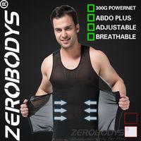 Fast Shipping ZEROBODYS Powerful Mens Body Shaper 300g High Powernet Vest 358 BK Girdle Man Squeem Waist Cincher Men Shape Wear