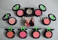 NEW arrival! High quality brand blush  powder, blush 9g in box, (8pcs / lot) blush Free Shipping!