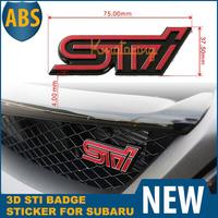 3D STI Metal Sticker For Subaru Emblem Jdm Impreza ABS Badge Decal Red Logo Auto Car for WRX Legacy