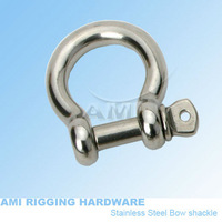 5mm,Bow shackle, stainless steel 316, AISI 316, marine hardware, boat hardware, rigging hardware