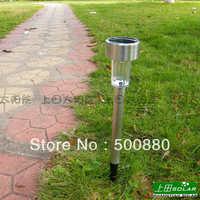 Free Shipping Hot Sale Wholesale Solar light 10pcs/lot Aluminum high quality Solar Garden Lamp white light color