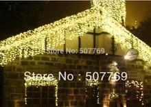 10m*0.65m 320LED light flashing lane LED String lamps curtain icicle Christmas festival lights 110v-220v EU UK US AU plug(China (Mainland))