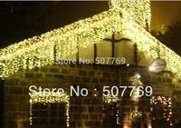 10m*0.65m 320LED light flashing lane LED String lamps curtain icicle Christmas festival lights 110v-220v EU UK US AU plug