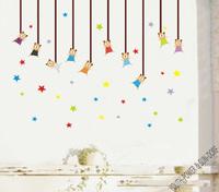 Kinds Of Bears line Stars Baby Kids Nursery Kindergarten cartoon Wall Stickers Vinyl Decals Boys Girls Home Room Decor Removable