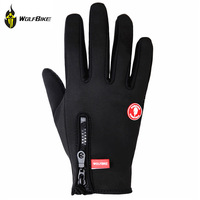 WOLFBIKE Motorcycle Racing Bicycle Bike Biking Riding Cycling Motorcross MTB Leather Winter Gloves Full Finger Touch Screen Gove