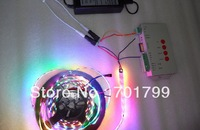 4m DC5V WS2812B BLACK PCB led pixel srip,IP33,60pcs WS2812B/M +T-1000S controler+5V/60W power supply
