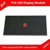 P10 Yellow Color Semi-outdoor LED Screen Module High Brightness