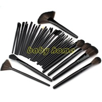 Big Promotion! 32pcs 32 pcs Cosmetic Facial Make up Brush Kit Makeup Brushes Tools Set + PU Leather Case