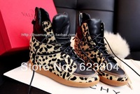 wholesale! 2014 hot sale leopard top sneakers women, high quality  shoes size 35-42