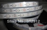 5m DC5V WS2812B led pixel srip,IP68 in silicon tube,30pcs WS2812B/M with 30pixels;36W;white pcb