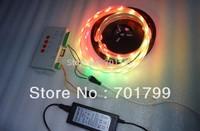 5m DC5V WS2812B led pixel srip,IP68;+T-1000S sd car controller+5V/60W power supply