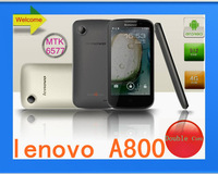Free shipping mtk 6577 original lenovoA800 Double SIM latest and best, Android4.04 Smartphone Double core RAM512 1.2GHz (CH)