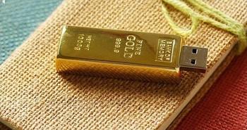 Wholesale - creative gold bar USB 2.0 usb flash drive 512gb flash memory stick pen drive disk usb flash free shipping